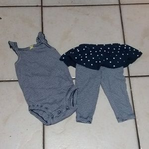 Carter's infant two piece outfit